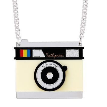 Vintage Camera Necklace by Tatty Devine - LAST ONE!