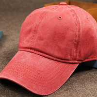 Rose Washed Cotton Baseball Cap