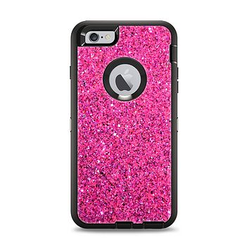 The Pink Sparkly Glitter Ultra Metallic Apple iPhone 6 Plus Otterbox Defender Case Skin Set