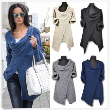Casual Knit Hot Sale Jacket [9052573956]