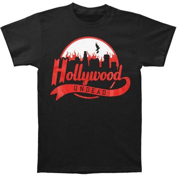 Hollywood Undead Men's  Burning City Tee T-shirt Black