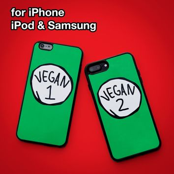 Vegan Phone Case Cover for Apple iPhone iPod Samsung Galaxy S & Note