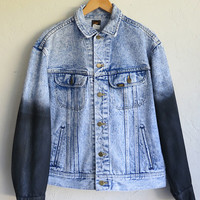 The Vintage Lee Acid Wash Wax Dipped Sleeved Jean Jacket