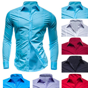 Slim Fit Men's Fashion Dress Shirt