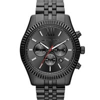 Michael Kors Oversize Black Stainless Steel Lexington Chronograph Watch