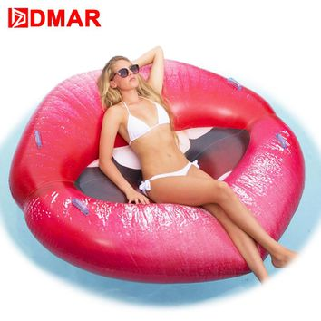 DMAR Sexy Inflatable Lips Mouth Pool Float Toys Inflatable Mattress Swimming Ring Clircle For Adults and Kids Beach Accessories