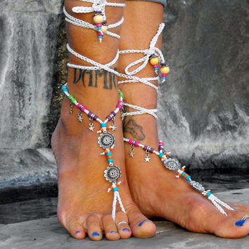 Thalia The Goddess Of Festivity / Barefoot Sandals By Iris (Small/Indie Brands)