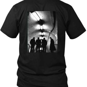 Joy Division Unknown Pleasure On Reality Photo 2 Sided Black Mens T Shirt