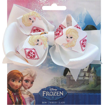 "Disney Frozen Grosgrain 1"""" Ribbon Hair Bows-Sisters"