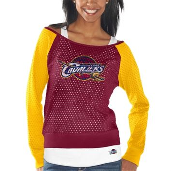 Cleveland Cavaliers Women's Maroon Holy Raglan Long Sleeve Top and Tank Top Set
