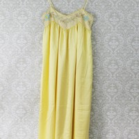 Vintage Buttercream  Embroidered Nightgown