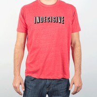 Indecisive-Unisex Heather Red T-Shirt