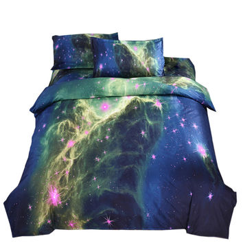 Starry Sky Home Textiles Beding 3D 4 pcs Beding Quilt Cover Flat Sheet Pillow Case x2   04