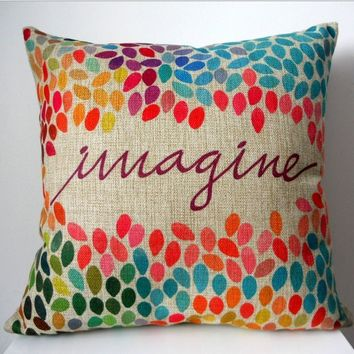Imagine Throw Pillow Cushion