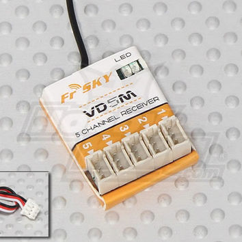 FrSky VD5M 2.4Ghz 5CH Micro Receiver (Telemetry Capable)