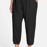 Plus Size Women's Eileen Fisher Organic Linen Crop Pants