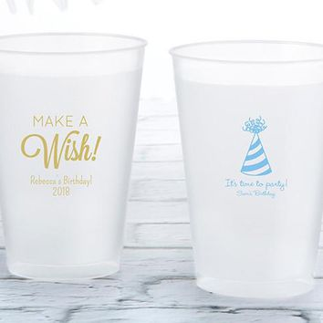 Personalized 12 Oz. Frosted Flex Cup - Birthday