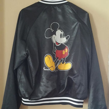 Vintage 1980's Mickey Mouse starter jacket Chalk Line XL Made in USA
