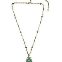 Max & Chloe - Lauren G. Adams Blue Hamsa Pendant Necklace - Max and Chloe