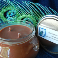 Pecan Pie Scented Double Wicked Soy Candle in Tureen Jar