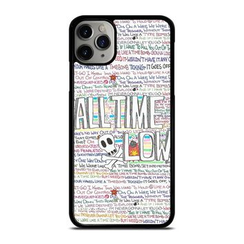 ALL TIME LOW WRITTING iPhone Case Cover