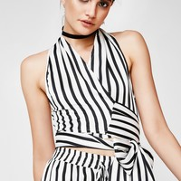 Won't Stop Stripe Halter Top