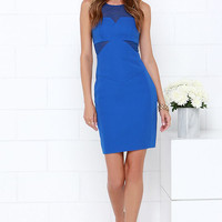 Finders Keepers Nothing to Lose Cobalt Blue Dress