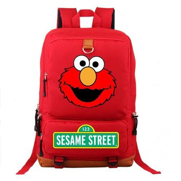 Sesame Street ELMO Backpack Unisex Fashion Backpack Laptop Backpack school bag