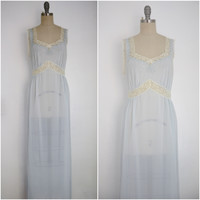 Vintage 1950s Baby Blue Nightgown