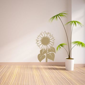 Sun Flower Wall Decal