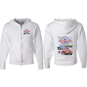 Ford Pickup Trucks Full Zip Hoodie Front and Back