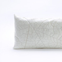 White Vein Throw Rectangle Pillow