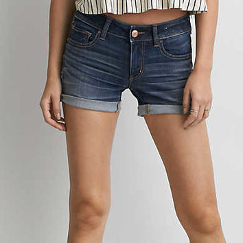 AEO Denim X Cafe Midi Short, Medium Vintage Wash