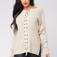 Getting Warm Ivory Sweater