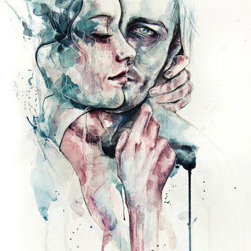 forever yours freckles Art Print by Agnes-cecile | Society6