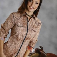 Roper Ikat Foulard Print Performance Collection Long Sleeve Urban Western Wear