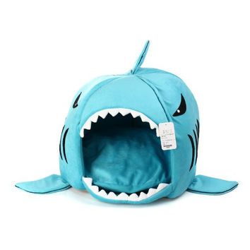 Funny Cat Shark Novelty Bed