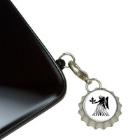 Virgo The Maiden Zodiac Horoscope Mobile Bottlecap Phone Charm