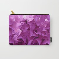 through the purple hydrangea Carry-All Pouch by clemm