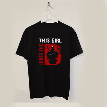 this girl love the Deadpool T-shirt unisex adults USA
