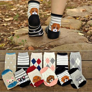 Animal Dog Socks Funny Crazy Cool Novelty Cute Fun Funky Colorful
