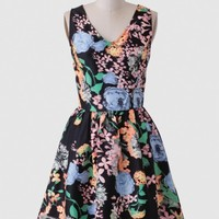 Garden Shadows Floral Dress