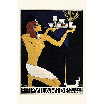 the PYRAMID vintage ad poster walter SCHNACKENBURG germany 1920 24X36 RARE