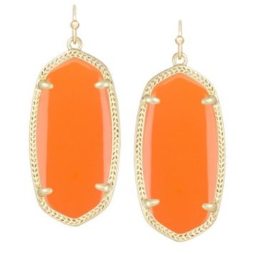 Elle Earrings in Orange - Kendra Scott Jewelry