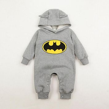 Autumn 2019 New Brand Babygrow Romper Boys girl  Batman Playsuit Costume Rompers Cool Jumpsuits Outwear 0-2Y Newborn clothing