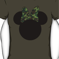 Camoflage Minnie Mouse Women's T-Shirt