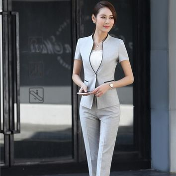 Formal Professional Business Women Suits With Jackets And Pants