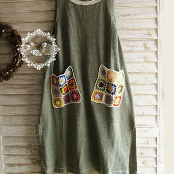 Embroidered Patchwork  Japanese Vest