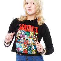 Papaya Clothing Online :: MARVEL SUPERHEROES HOODIE TOP