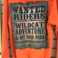 WildCat Adventure Park Orange - Wanted Riders hoodie Clothing Apparel | Wildcat Adventures And Off Road Park | wildcatadventures.net